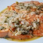 Broiled Salmon in Wine Dijon Sauce – 6 Points