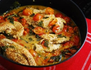Tomato Basil Chicken Recipe – 3 Points