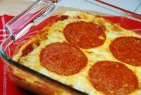 cauliflower pepperoni pizza