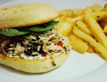 italian pulled chicken sandwich