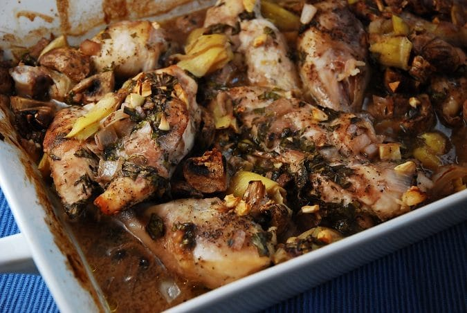 Roasted Artichoke and Mushroom Chicken Recipe