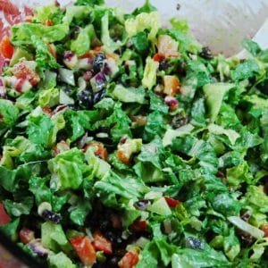 southwestern salad with creamy cilantro dressing5 1