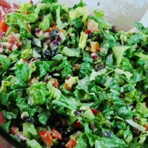 southwestern salad with creamy cilantro dressing5 1