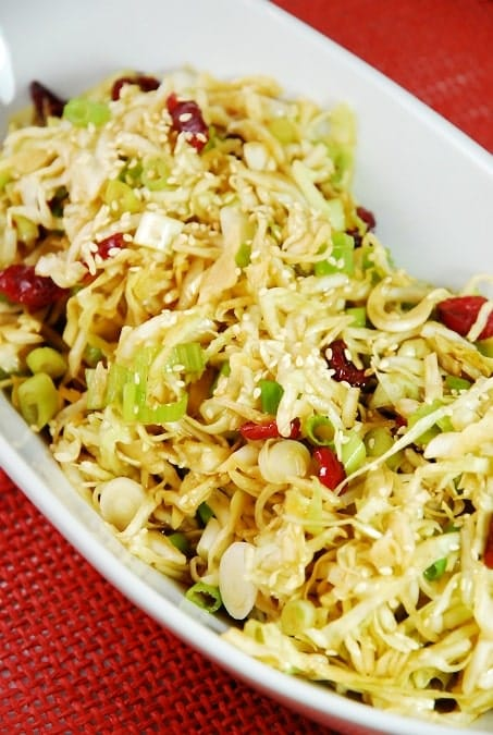 asian cabbage and cranberry salad