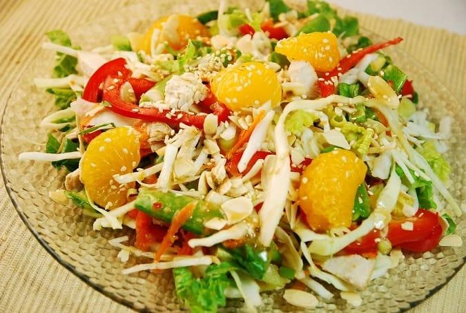Chinese Chicken Salad Recipe – 5 Points + - LaaLoosh