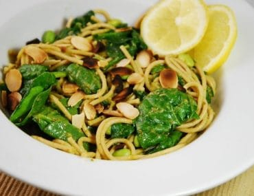 lemon spinach pesto pasta