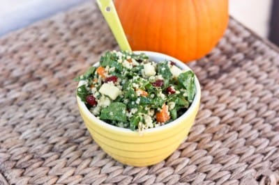 Fall Harvest Spinach Salad (Small)
