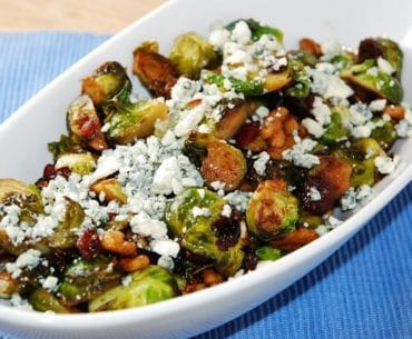brussel sprouts with cranberries walnuts and blue cheese