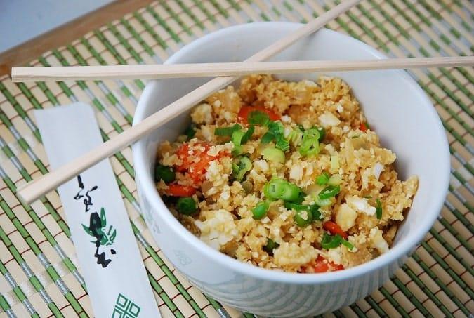 Cauliflower Fried Rice Recipe – 2 Points + - LaaLoosh