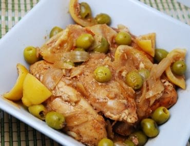 green olive and lemon chicken