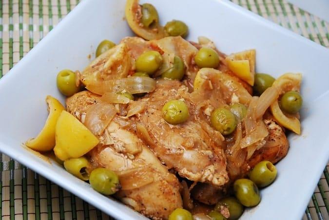 Green Olive and Lemon Chicken Recipe – 4 Points + - LaaLoosh