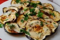 roasted eggplant with tahini sauce