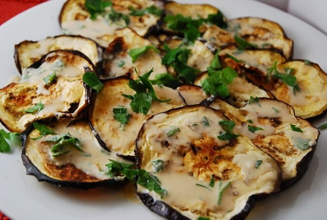 Roasted Eggplant with Tahini Sauce