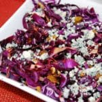 Red Cabbage Salad with Walnuts and Raisins – 4 Points