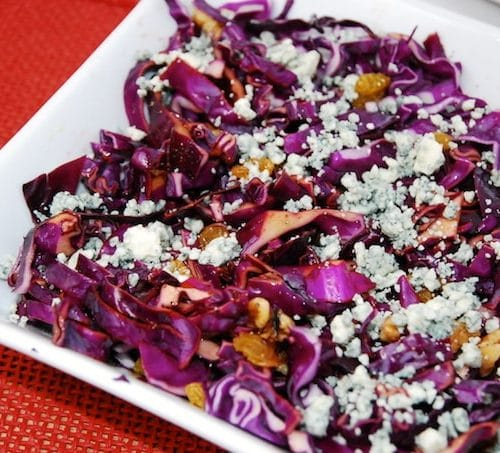 Red Cabbage Salad With Walnuts And Raisins 5 Points Laaloosh