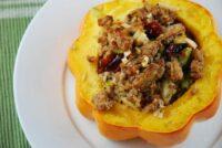 ground turkey stuffed acorn squash