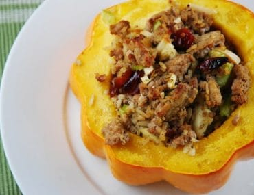 ground turkey stuffed acorn squash
