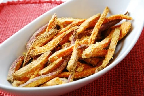 Sweet Potato Cornmeal Fries