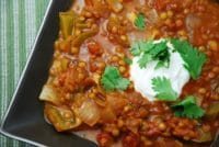 vegetarian chili with lentils