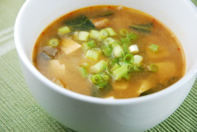 Ginger Miso Soup Recipe - 1 Points + - LaaLoosh