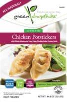 green chopsticks chicken potstickers