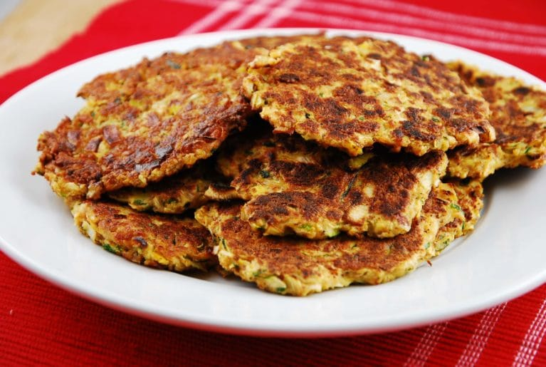 zuchinni and leek fritters