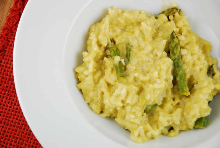 asparagus goat cheese risotto