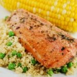Italian Marinated Salmon with Couscous Recipe – 8 Points