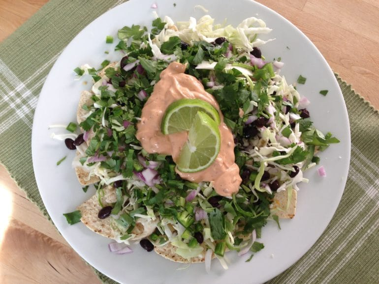 light fish nachos