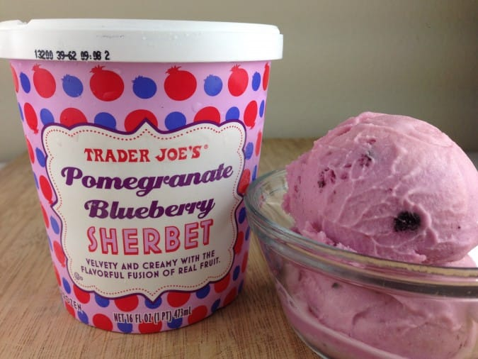 Trader Joe's Pomegranate Blueberry Sherbet