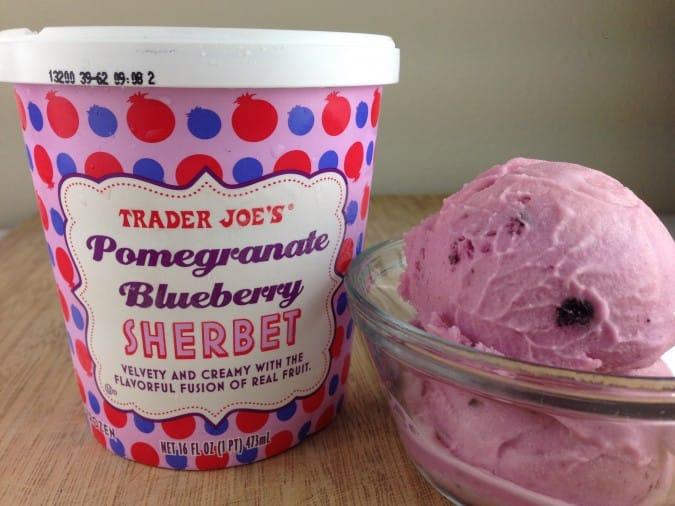 Trader Joe's Pomegranate Blueberry Sherbet