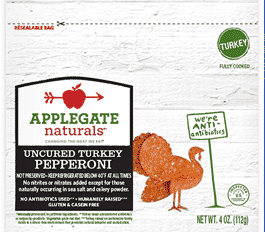 applegate mini uncured turkey pepperoni