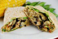 eggplant tahini wrap