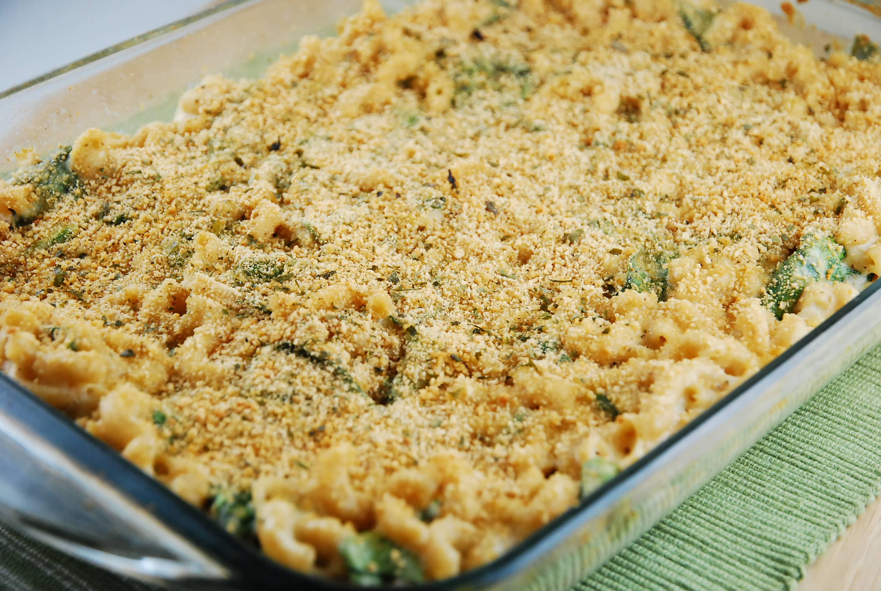 Three Cheese Baked Mac and Cheese Recipe - 6 Points + - LaaLoosh