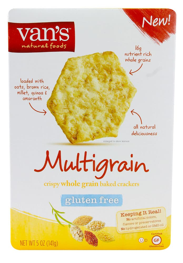 Van's Natural Foods Multigrain Gluten Free Crackers - 4 Points ...