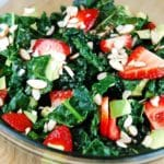 Kale, Strawberry and Avocado Salad Recipe – 5 Points