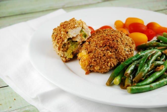 Broccoli and Cheddar Stuffed Chicken Breasts