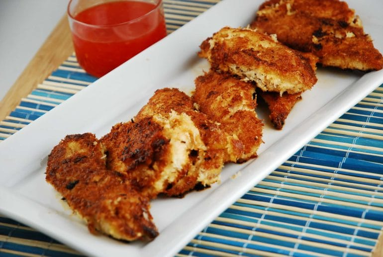 crispy cocunut chicken tenders