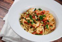 garlic shrimp linguine