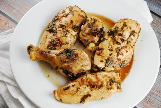 Oven Roasted Beer Chicken