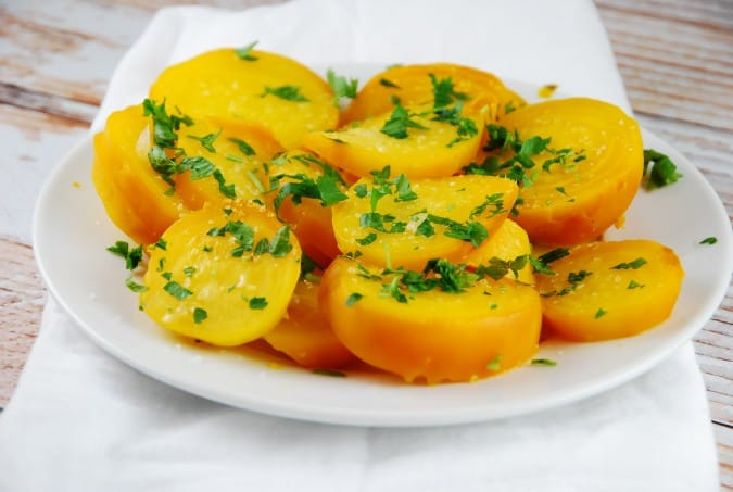 Roasted Yellow Beets
