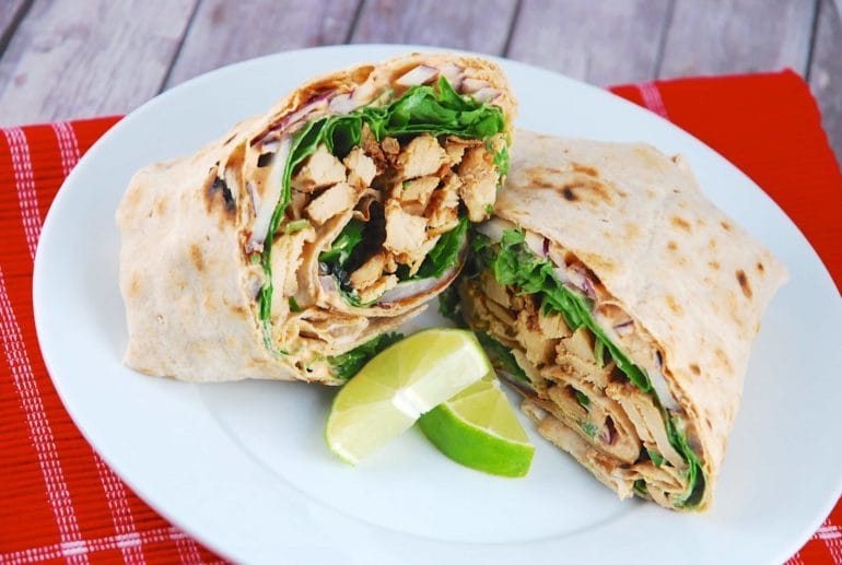 chipotle lime chicken wrap
