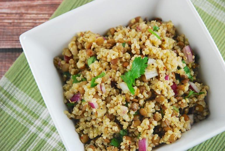 quinoq and lentil salad