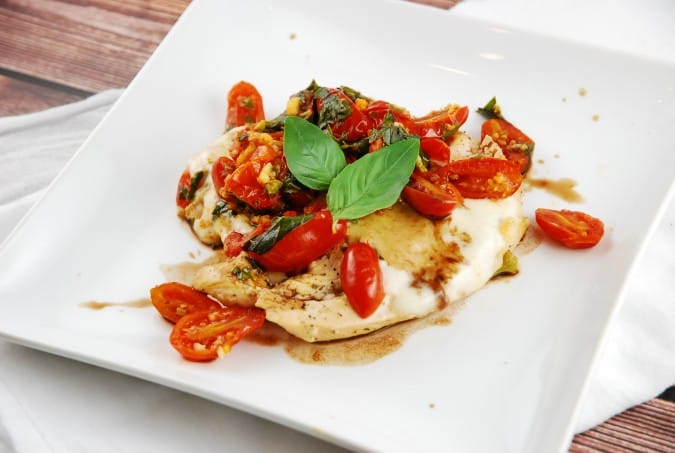Caprese Chicken Recipe - 5 Points + - LaaLoosh