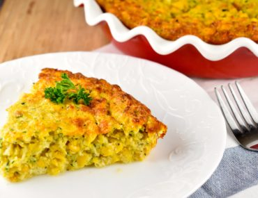 Crustless Corn and Zucchini Quiche