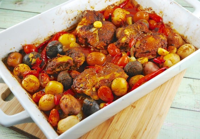 Roasted Middle Eastern Chicken With Potatoes 5 Points Laaloosh