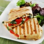 Roasted Red Pepper and Goat Cheese Wrap – 8 Points