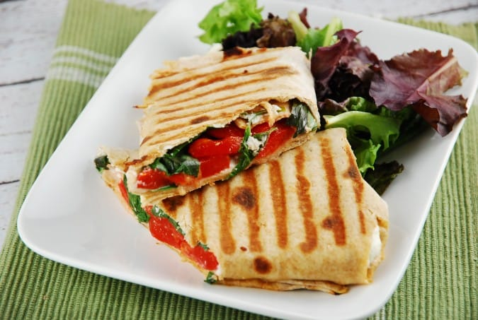 Roasted Red Pepper and Goat Cheese Wrap