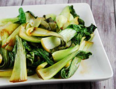soy and garlic sauteed bok choy