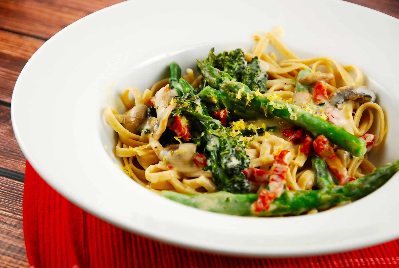 Vegetable Alfredo Recipe - 8 Points + - LaaLoosh